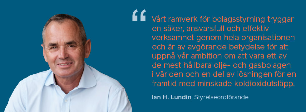 Ian Lundin Chairman - corporate governance