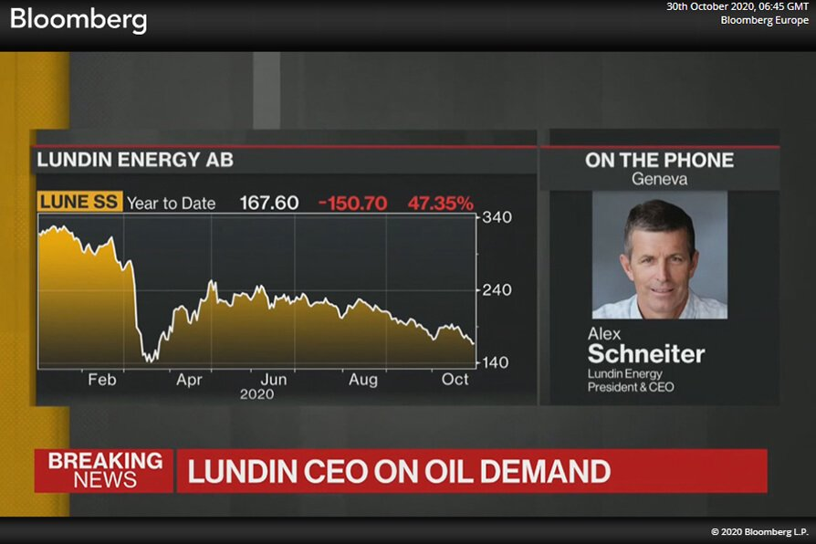 Alex Schneiter Bloomberg TV interview
